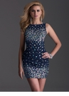 Sparkling Navy Cocktail Dress 2690