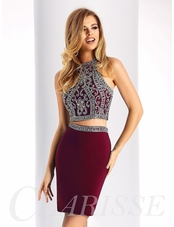 Sparkling Two Piece Homecoming Dress S3006