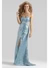 Strapless Blue Sequin Prom Dress 2327