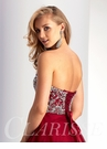 Strapless Burgundy Baby doll Homecoming Dress S3012