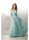Strapless Multicolor Ball Gown 17176