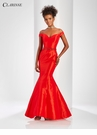 Taffeta Off the Shoulder Mermaid Gown 3443 | 3 Colors!