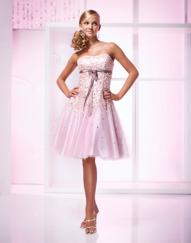 Prom dress Paris 18779 pink, short cocktail dress, short formal gown ...