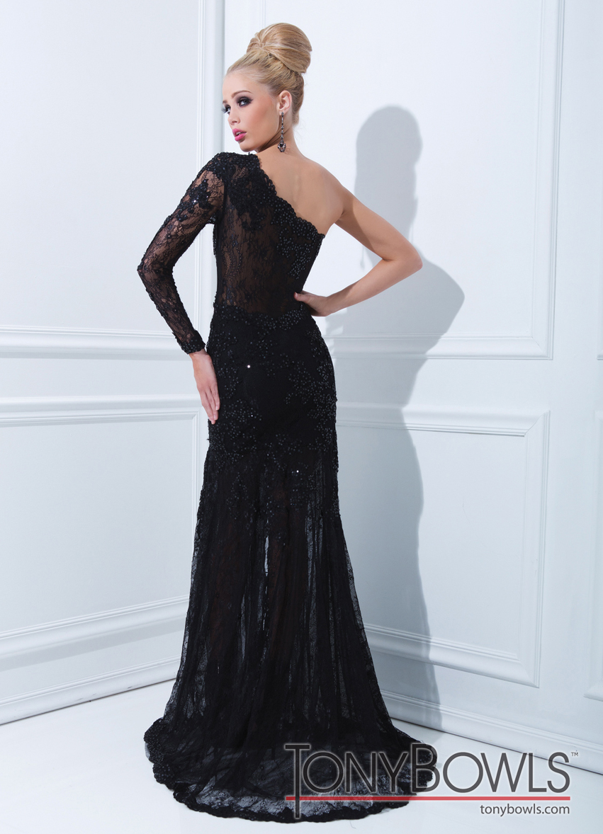 Tony Bowls Black Evenings Gown 11456