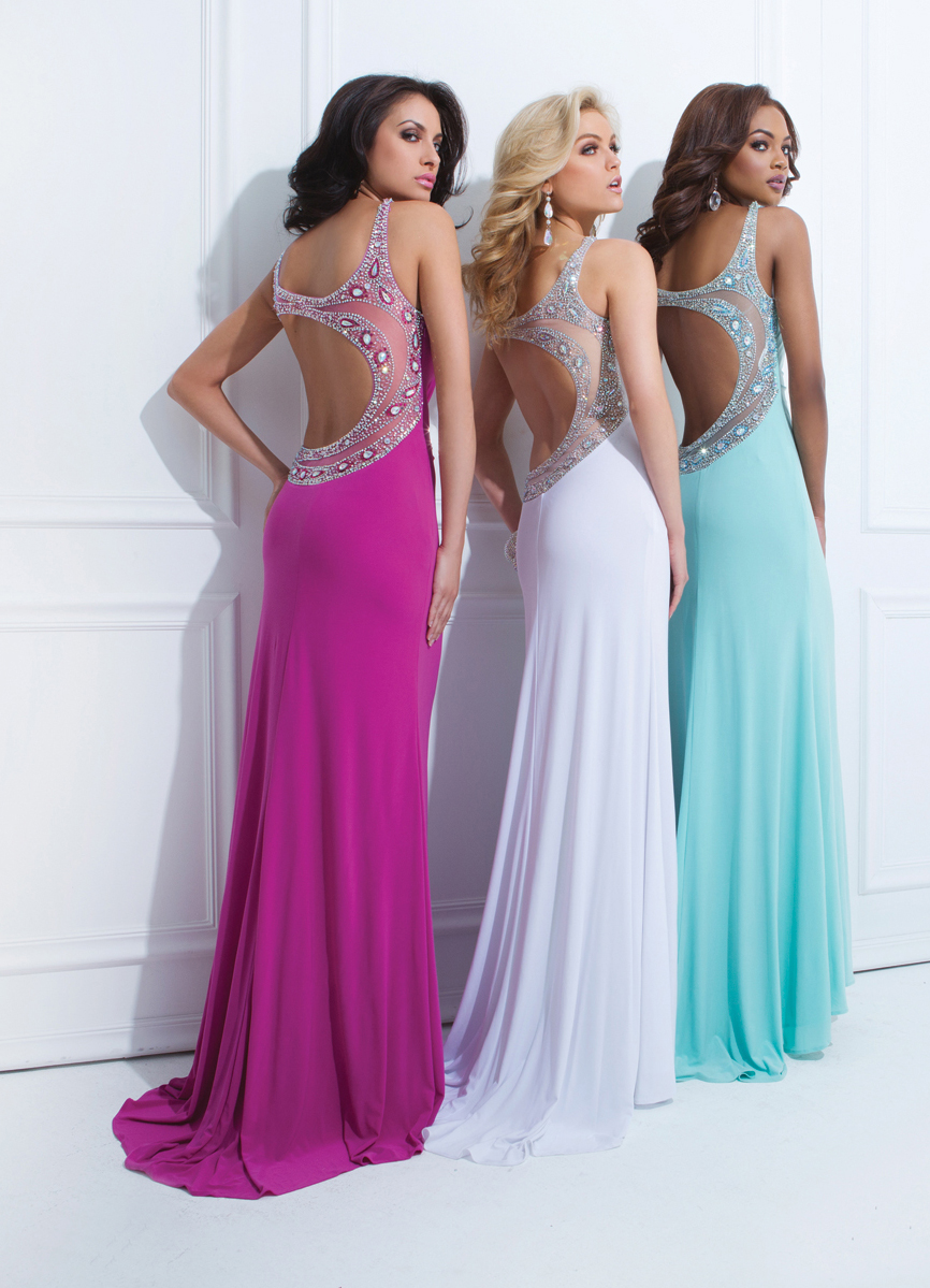 Tony Bowls 2014 Red Black Aqua Blue One Shoulder Cut Out Prom Gown ...