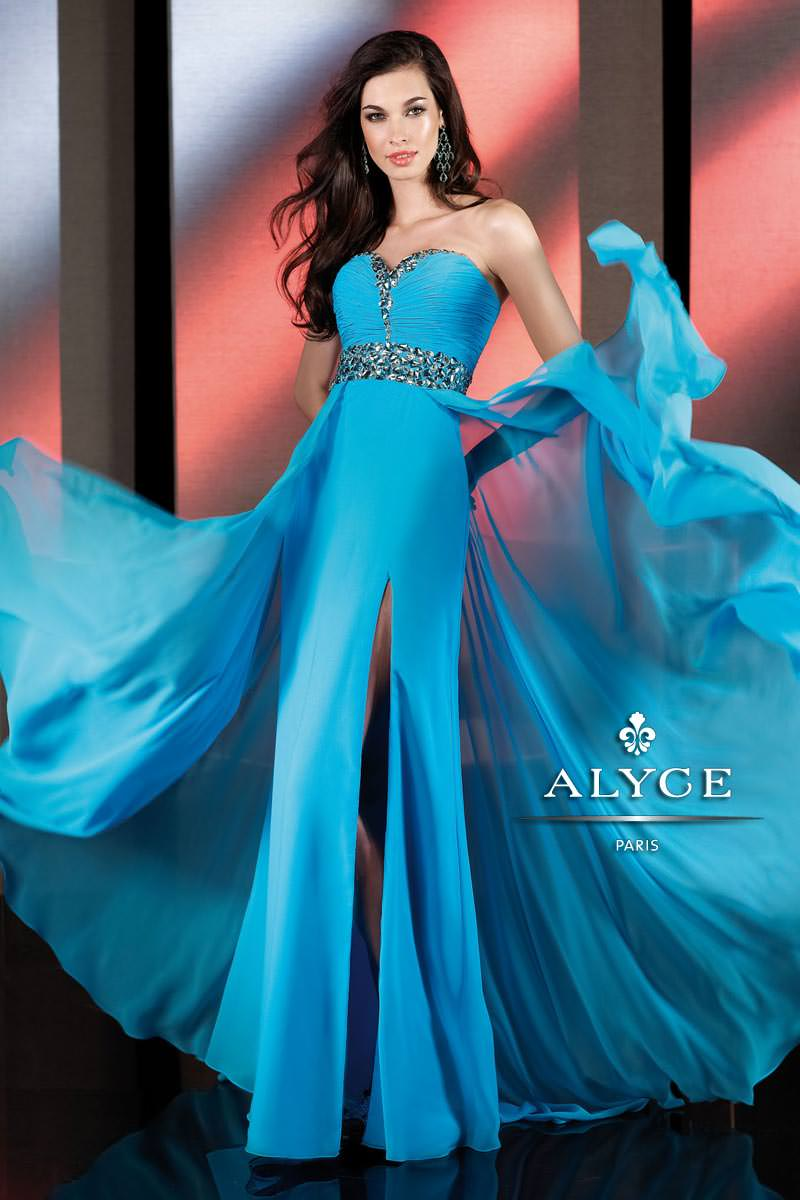 Alyce 2013 Turquoise Sweetheart Strapless Beaded Wasitband Long A ...
