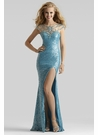 Turquoise Evening Gown 2377 by Clarisse