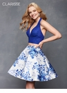 Two Piece Floral Homecoming Dress 3637