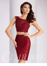Two Piece Lace Homecoming Dress S2716