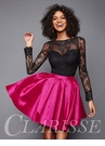 Two Piece Long Sleeve Homecoming Dress 3304