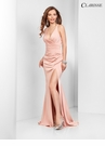 V-neck Satin Prom Dress 3456 | promgirl.net