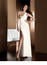 White and Gold Claudine for Alyce Prom Dress 2043
