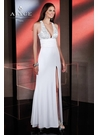White and Silver Sexy Alyce Gown 35497