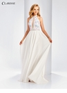 White Halter A-line Prom Dress 3532