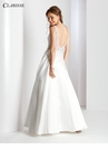 White Scoop Neck A-line Prom Dress 3535