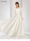 White Lace Dress with Overskirt 3490
