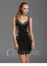 Zizi Black and Metallic Floral Homecoming Dress 355