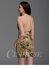 Zizi Gold Sequin Homecoming Dress 361