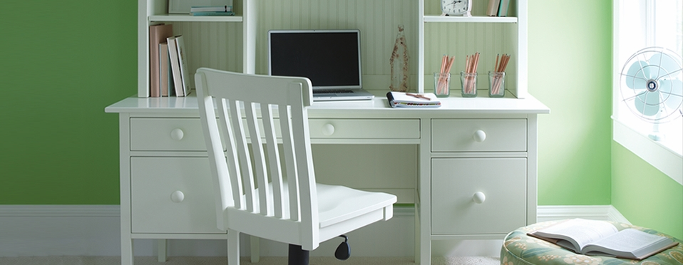 Cabin Style Office Furniture : Cottage and coastal style office furniture painted solid
