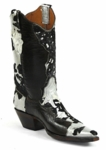 Men's Black Jack Hair On Calf Acid wash Custom Boots 530