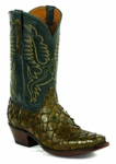 "<font color=""red"">NEW STYLES ADDED</font> Mens Black Jack Boots - Pirarucu Fish - 20 Styles"