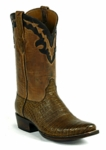 Men's Black Jack Boots Caiman Belly- Tobacco Custom Boots 7152