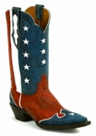 Men's Black Jack Boots Patriotic Design Red Maddog Custom Boots 8654
