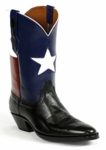 Men's Black Jack Texas Flag Custom Boots 8653
