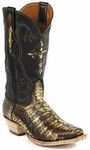 Mens Black Jack Boots Antique Brown Caimen Belly Custom Boots 240