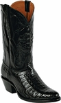Mens Black Jack Boots Black Caiman Crocodile Belly Custom Boots 247