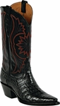 Mens Black Jack Boots Black Caiman Crocodile Belly Custom Boots 251