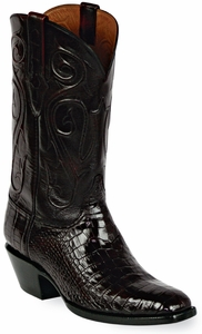 Mens Black Jack Boots Black Cherry Alligator Belly Custom Boots 123