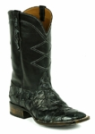 Mens Black Jack Boots Black - Pirarucu Fish -  Charcoal Black 774