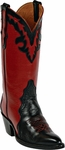 Mens Black Jack Boots Black & Red Leather Triad Custom Boots 1400