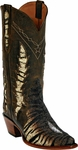 Mens Black Jack Boots Brown Tiger Stingray Triad Custom Boots 1409