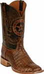 Mens Black Jack Boots Burnished Brown Caiman Crocodile Belly Custom Boots 250