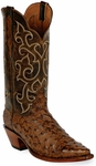 Mens Black Jack Boots Burnished Cigar Full Quill Ostrich Custom Boots 237