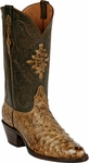 Mens Black Jack Boots Burnished Tan Full Quill Ostrich Custom Boots 211