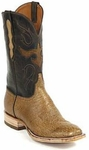 Mens Black Jack Boots Burnished Tan Smooth Ostrich Custom Boots 415