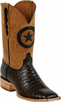 Mens Black Jack Boots Chocolate Caiman Crocodile Belly Custom Boots 250