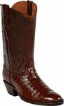 Mens  Black Jack Boots Cigar Nile Crocodile Belly Custom Boots 840