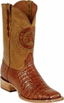 Mens Black Jack Boots Cognac Caiman Crocodile Belly Custom Boots 250