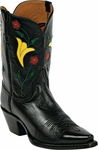 Mens Black Jack Boots KC Design Inlay Goat Peewee Custom Boots 359