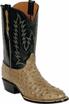 Mens Black Jack Boots Mink Full Quill Ostrich Custom Boots 232