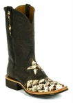 Mens Black Jack Boots Pirarucu Fish/White Chocolate/Goat-Brown Maddog 723