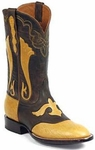 Mens Black Jack Boots Saddle Tan Shoulder Bullhide Leather Custom Boots 419