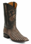 Mens Black Jack Caiman Belly Cigar Sundance With Music Inlay Custom Boot Style# 6322