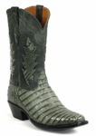 Mens Black Jack Grey Caiman Crocodile Belly Custom Boots Style# 6324