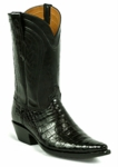 Mens Black Jack SELECT Caiman Crocodile Belly Black / Baby Calf  Style# 7101