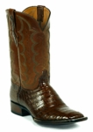 Mens Black Jack Select Caiman Crocodile Belly Brandy Custom Boots 7104